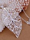 Кулоны Стразы Leaf Shape серебро 1
