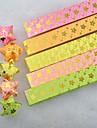 materiales origami lucky star patrón de flor de ciruelo estampado en caliente de oro (40 páginas / 1 color / paquete de color al azar)
