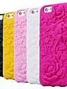 Rose Carving Pattern Silicon Rubber Soft Case for iPhone 6 (Assorted Colors)