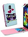 Owl Family Vertical Flip  Leather  Full Body Case Cover  for Samsung S5 I9600
