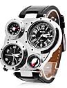 ของขวัญส่วนบุคคล นาฬิกา, แสดงสองเวลา นาฬิกาควอตซ์ญี่ปุ่น นาฬิกา With โลหะผสม กรณีวัสดุ PU วงดนตรี นาฬิกาทหาร ทนน้ำลึก