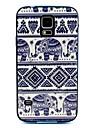 bourdon éléphant tapis modèle de couverture de cas pour les Samsung Galaxy S i9600