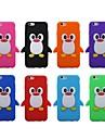 3d bonito do pinguim silicone estojo para iphone 6 (cores sortidas)