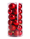 24PCS nochi 4cm의 크리스마스 공 크리스마스 공 빛 공 공 크리스마스 트리 장식 (모듬 된 색상)를 도금