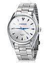 JUBAOLI® Men\'s Business Style Silver Steel Band Quartz Wrist Watch (Assorted Colors) Cool Watch Unique Watch