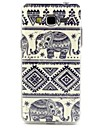 Elephant Tribal Lines Pattern Design Durable TPU Cover Case for Samsung Galaxy Grand I9080/I9082