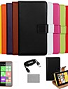 COCO FUN® Ultra Slim Solid Color Genuine Leather Case with Film,Cable and Stylus for Nokia Lumia N625(Assorted Colors)
