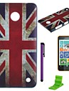 The British Flag Pattern PC Hard Case with Screen Protector,Stylus and Stand for Nokia Lumia 630/635