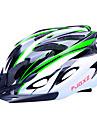 fjqxz 18 통풍구 분기 EPS + PC의 녹색과 검은 색 일체 성형 자전거 헬멧 (56-63cm)