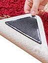 8 pieces etonnantes reutilisables triangle lavable non Slip Mat pinces derapage tapis de tapis autocollants