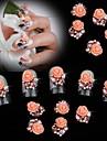 תכשיטים לציפורניים עיצוב ציפורניים פדיקור מניקור מתכת פרח / קלסי / חתונה יומי