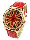 Жен. Модные часы Наручные часы Кварцевый PU Группа Черный Белый Красный Оранжевый Коричневый