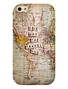 Travel Map Pattern Back Case for iPhone 4/4S