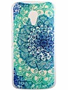 Luminous Blue Lotus Transparent Pattern PC Hard Case for Motorola Moto G2/XT1063