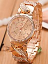 Women's Gold Steel Band with Rhinestone Quartz Analog Wrist Watch (Assorted Colors) Cool Watches Unique Watches