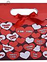 lureme®paper padrão de coração feito caixa de presente rosa