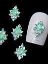 10pcs liga strass verde para as pontas dos dedos diy projeto da arte do prego decoracao