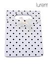 Lureme®Paper Made Spots White Gift Box