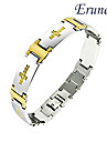 Eruner®Men's Golden Cross Titanium Steel Bracelet