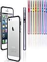 PC + TPU Soft Case pára-choques moldura para iphone 5 / 5s (cores sortidas)