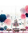 12 polegadas de casamento flores de papel da decoracao do partido pompons papel de seda casamento artesanato (conjunto de 4)