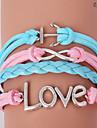 pulseiras eruner®leather liga multicamadas encantos do amor pulseira artesanal