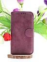 Pour Samsung Galaxy Coque Porte Carte Avec Support Clapet Coque Coque Integrale Coque Couleur Pleine Cuir PU pour Samsung S5
