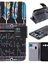 용 삼성 갤럭시 케이스 카드 홀더 / 스탠드 / 플립 / 패턴 / 마그네틱 케이스 풀 바디 케이스 단어 / 문구 인조 가죽 Samsung A3