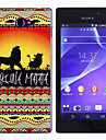 For Sony Case Pattern Case Back Cover Case Cartoon Hard PC for Sony Sony Xperia M2