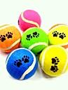 jouet pour chien tennis de formation balle mordre pour animaux de compagnie (chiens chats 1 pièce, couleur aléatoire)