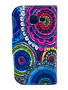 The Kaleidoscope Of Sun Flowers Pattern PU Leather with Case and Card Slot for Galaxy Trend Lite S7390/S7392