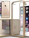 케이스 제품 iPhone 6s Plus iPhone 6 Plus iPhone 6s 아이폰 6 iPhone 6 iPhone 6 Plus 충격방지 투명 뒷면 커버 한 색상 소프트 실리콘 용