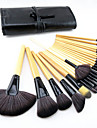 24pcs Pony Hair Makeup Brushes set Professional Wood Handle Burlywood blush/foundation/powder/concealer/ shadow/liner brush cosmetic kit