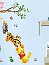 애니멀 카툰 로맨스 정물화 패션 벽 스티커 플레인 월스티커 데코레이티브 월 스티커,비닐 홈 장식 벽 데칼 For 벽