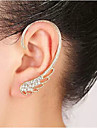 Women's Ear Cuffs Birthstones Costume Jewelry Rhinestone Alloy Wings / Feather Jewelry For Wedding Party Daily Casual