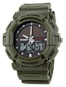 SKMEI® Men\'s Sporty Watch Solar Power Analog-Digital Calendar/Chronograph/Dual Time Zones/Alarm Black Rubber Strap Cool Watch Unique Watch