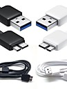 BIG D 100cm High Speed USB3.0 Data Charging Cable for Samsung S5/Note3 (Assorted Color)