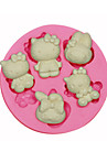 Bakeware tools Silicone Eco-friendly / 3D For Cake / For Cookie / For Pie Animal Mold 1pc