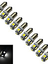 1W 70-100 lm BA9S Decoration Light 5 leds SMD 5050 Cold White DC 12V