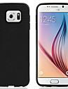 Pour Samsung Galaxy Coque Autre Coque Coque Arriere Coque Couleur Pleine Silicone pour Samsung S6