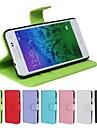 nubuck cartao de carteira de couro caso pu simples com suporte para Samsung Galaxy alfa G850