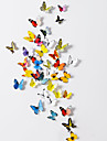 3D  Butterfly PVC Wall Stickers Wall Art Decals(38 Pcs A Set)