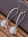 Simple Grinding Ball 925 Silver Drop Earrings(2Pc)