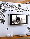 Kukkakuviot Sarjakuva Wall Tarrat Lentokone-seinätarrat Koriste-seinätarrat, Vinyyli Kodinsisustus Seinätarra Seinä