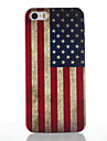 For iPhone 5 Case Frosted / Pattern Case Back Cover Case Flag Hard PC iPhone SE/5s/5