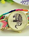 패션 여성의 코끼리 국가 방직 남쪽 한국 스타일의 체인 DIY 시계