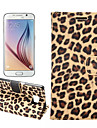 Case For Samsung Galaxy Samsung Galaxy Case Card Holder with Stand Flip Full Body Cases Leopard Print PU Leather for S7 edge S7 S6 edge