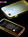 Pour Coque iPhone 6 Coques iPhone 6 Plus Lampe LED Allumage Auto Transparente Coque Coque Arriere Coque Couleur Pleine Flexible PUT pour