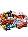 Кошка Собака Аксессуары для создания прически Бант Одежда для собак Мультипликация Цвет в случайном порядке Терилен Костюм Для домашних