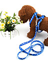 Adjustable Nylon Printing Harness with 120cm Leash for Pet Dogs (Assorted Colors)